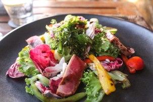 Seared Tuna Salad with a wasabi dressing