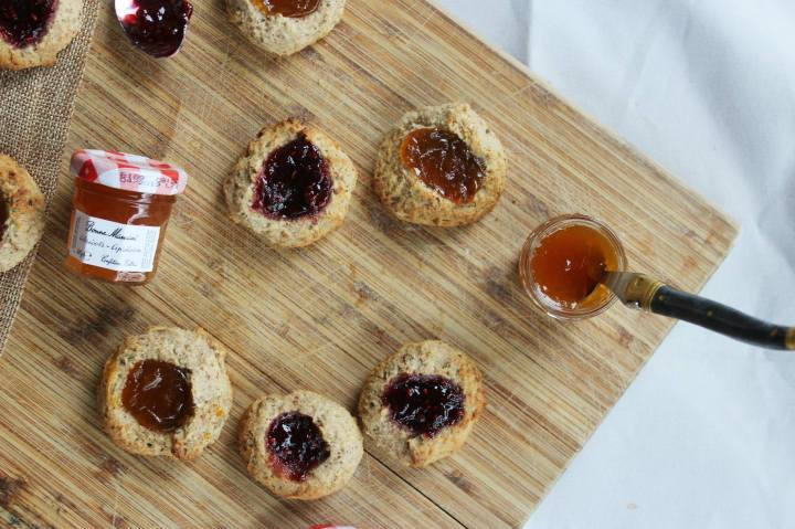 ALMOND JAM DROPS – BISCUITS A LA CONFITURE (VEGAN)